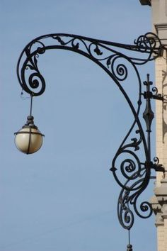 Beautiful lamp post in the historical area of Kiev,Ukraine