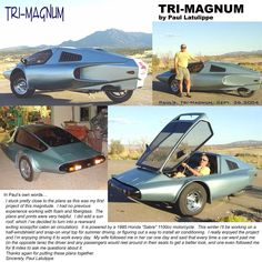 1983 Tri-Magnum Reverse Trike plans found at  http://www.rqriley.com/plans.html
