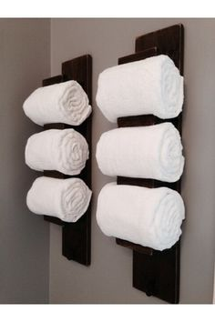 Wall Mounted Rustic Wood Towel Storage Hanging On Wooden Wall With - Wooden towel storage for small bathroom ideas