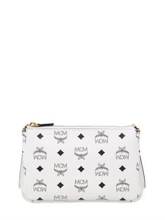 MCM Medium Millie Faux Leather Crossbody Bag, White. #mcm #bags #shoulder bags #leather #crossbody #lace #