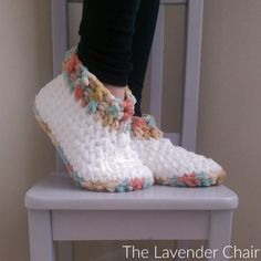 Cloud 9 Slippers Crochet Pattern - The Lavender Chair
