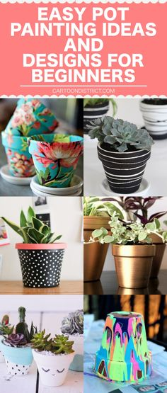 EASY POT PAINTING IDEAS AND DESIGNS FOR BEGINNERS