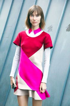 Paris Street Style 2012 - Paris Fashion Week Spring 2013 Style - ELLE  Can't settle if the collar works