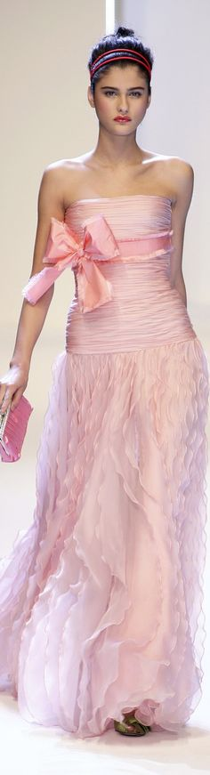 Feminine pink gown by Valentino. Pink Love, Pretty In Pink, Pale Pink, Rose Shabby Chic, Pink Dress, Dress Up, Rosa Style, Vestidos Fashion, Fashion Dresses