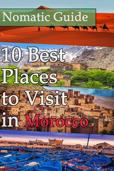 10 Best Places to Visit in Morocco - NomaticTravel Best Countries To Visit, Cool Countries, Cool Places To Visit, Morocco Travel, Snow Skiing, Casablanca, Coast, Italy, Country
