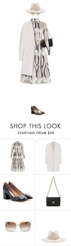 """""""Invisible Doll in Long Sleeve Dress for Fall"""" by kiki-bi ❤ liked on Polyvore featuring Sophie Theallet, Tory Burch, Christian Dior and rag & bone"""