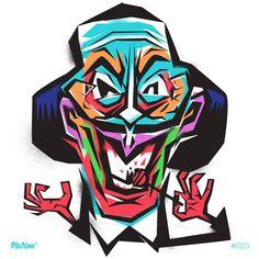 #SalvadorDalí 23/#365Rounds #MrKone #Illustration #Portrait #AdobeIlustrator #Wacom #ChupaChups