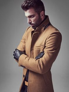 Men's camel coat