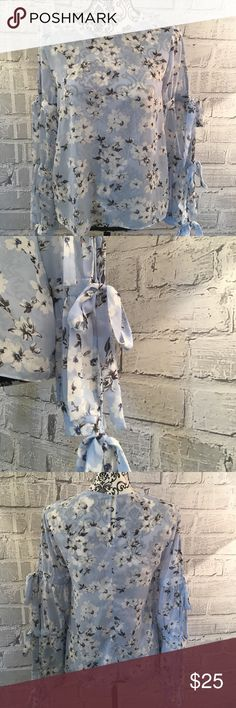 NWOT English Factory Floral Blouse Floral Blouse With Bows On The Sleeves Never Worn English Factory Tops Blouses