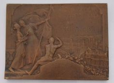 ITALY / 1911 TURIN TORINO EXPOSITION FRENCH ART NOUEVAU MEDAL by DAUTEL