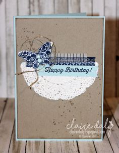 Floral Boutique DSP and washi tape birthday card by Claire Daly, Stampin Up Demonstrator Melbourne Australia