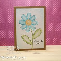 Just for you - Card Paper Divas, Your Cards, I Card, Your Design, Stamps, Card Making, Just For You, Corner, Blog