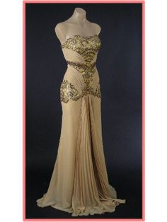 old+style+formal+gowns   ... Glamour Gold Vintage Inspired Evening Gown-Vintage Style Prom Dresses