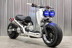 Honda Scooters, Honda Bikes, Scooter Custom, Custom Bikes, Custom Honda Ruckus, Uber Car, Ninja Bike, Motorised Bike, Honda Cub