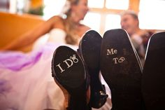 I Do Shoe Crystals with DIAMOND RING & Me Too Groom Stickers for the Bride and Grooms Wedding Shoes.  Perfect Photo Opp. $24.00, via Etsy.