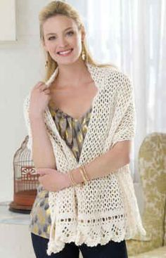 Best Free Crochet » Free Crochet Pattern On the Town Shawl From RedHeart.com