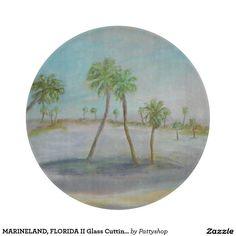 MARINELAND, FLORIDA II Glass Cutting Board