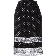 Givenchy star embroidered lace panel skirt (2 600 AUD) ❤ liked on Polyvore featuring skirts, black, high-waist skirt, givenchy, givenchy skirt, high waisted skirts and knee high skirts