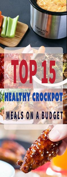 Healthy crockpot recipes - Clean eating is easy for families on a budget when utilizing a slow cooker. Whether it�s chicken, beef or pork, dinners are simple to plan and provide a low calorie, low carb option for weight watchers or diet conscience individ