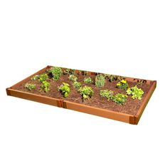 Two Inch Series 4 ft. x 8 ft. x 5.5 in. Composite Raised Garden Bed Kit