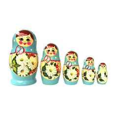 Nesting Doll Turquoise 5Pc, $32, now featured on Fab.