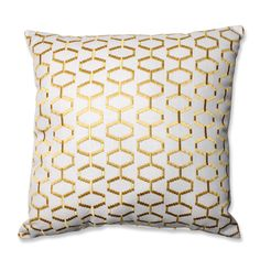 There is no piece of furniture a geometric-printed pillow can't update in an instant. And this geometric gem featuring a golden yellow pattern, will do just that. Featuring a stylish hexagonal print, ...
