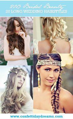 20 Long Wedding Hairstyles 2013 (really diggin Wedding Hairstyles For Long Hair, Wedding Hair And Makeup, Bride Hairstyles, Pretty Hairstyles, Hair Makeup, Hair Wedding, Asian Hairstyles, Hairstyle Ideas, Wedding Stuff