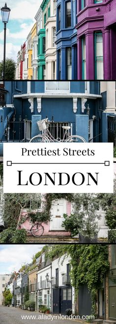 Where to find the prettiest streets in London, from quiet mews to colorful roads. You'll love these. #london