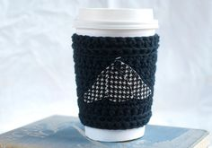Sherlock cup cozy, crochet coffee cozy, Sherlock hat