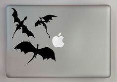 3 Dragons Flying Decal Macbook Laptop by overlyattacheddecals, $7.50