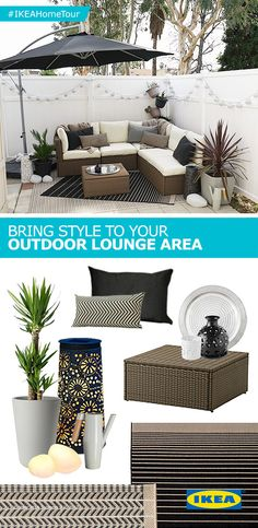 The IKEA Home Tour Squad shares various elements needed to create a smart and stylish dining space right in your backyard - from furniture to serveware and more. Get inspired for your own space from their outdoor lounge makeover!