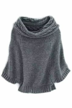 Knitted  swoncho, Hayward Cape Pullover. http://www.polyvore.com/hayward_cape-pullover/thing?id=43582624