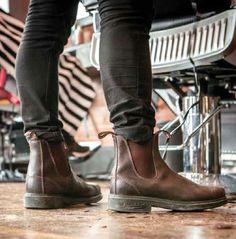 Blundstone footwear Chelsea – Fashion Page Blundstone Mens, Dr. Martens, Mode Ab 50, Modern Gentleman, Winter Shoes, Casual Boots, Blue Jeans, Black Denim, Men Boots