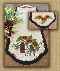 Wool Applique - No Place Like Home - Choose Pattern or Pattern with Wool Kit
