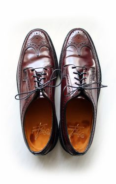 Vintage Florsheim Imperial Shell Cordovan Longwing Brogues