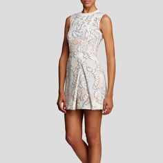 Tory Burch Foliage jacquard dress Tory Burch Foliage jacquard dress. Never worn.  Beautiful dress! The original tag comes with it but had to be retached by store due to string tag being detached. Tory Burch Dresses