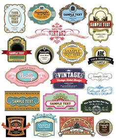 vintage style labels that you can alter...the site has lots of other vectors that you can customize