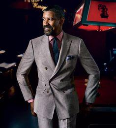 Men's fashion + photography. Denzel Washington