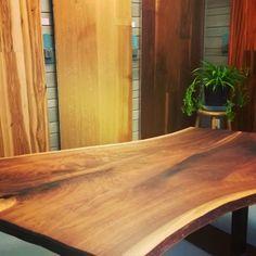 New Walnut Table for showroom Wood Slab Table, Walnut Table, Furniture Projects, Custom Furniture, Showroom, Design Projects, Your Design, Countertops, Hardwood