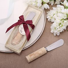 The perfect item to spread jelly or butter on your bread. Plus, it also looks like a wine cork. Get it as a wedding favor for $1.99!