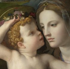 Resultado de imagen de Madonna & child with Saints detail, painted in 1540 by Agnolo Bronzino.