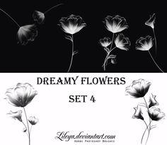 Dreamy Flowers -set 4- by Lileya.deviantart.com