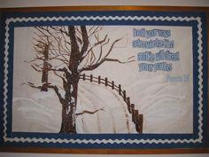 church bulletin board for winter