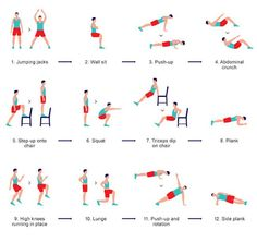 Vidéo 3 minutes d'exercices intenses