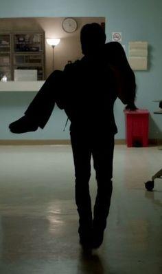 Damon carrying Elena