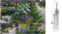 Un jardin bleu à Beaune entre rivière et rempart par Aurélie Gueniffey