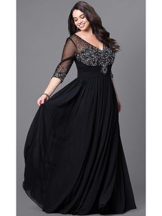 Shop for plus-size prom dresses at Simply Dresses. Long formal plus-size prom dresses, formal evening gowns in plus sizes, plus-size ball gowns, and sexy plus prom dresses. Plus Size Formal Dresses, Plus Size Outfits, Dress Formal, Formal Prom, Formal Wear, Full Figure Dress, Robes Glamour, Plus Size Evening Gown, Formal Evening Gowns