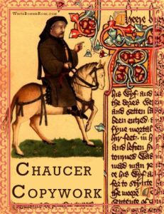 Timeline Worksheet, October 25, 1400: Remember the work of Geoffrey Chaucer with this copywork excerpt from The Canterbury Tales.