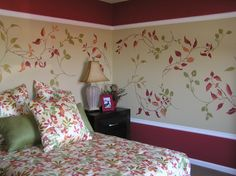 Red Flower Mural #homemural
