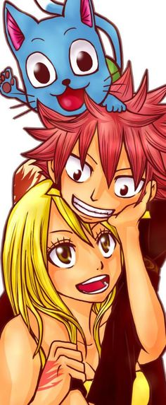 Nalu<3 Fairy Tail Nalu (Natsu and Lucy). Thank you to the creator!